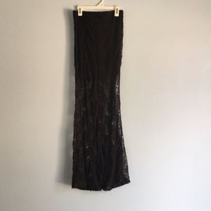 Dresses & Skirts - Lace maxi skirt with mermaid flare